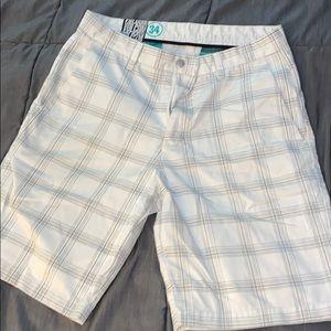 Volcom white casual shorts
